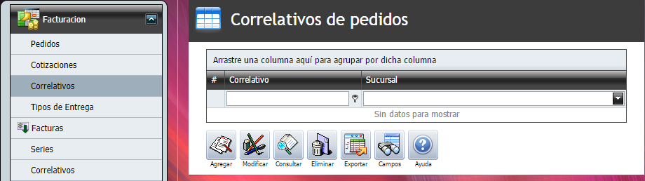 Facturacion Pedido Correlativo